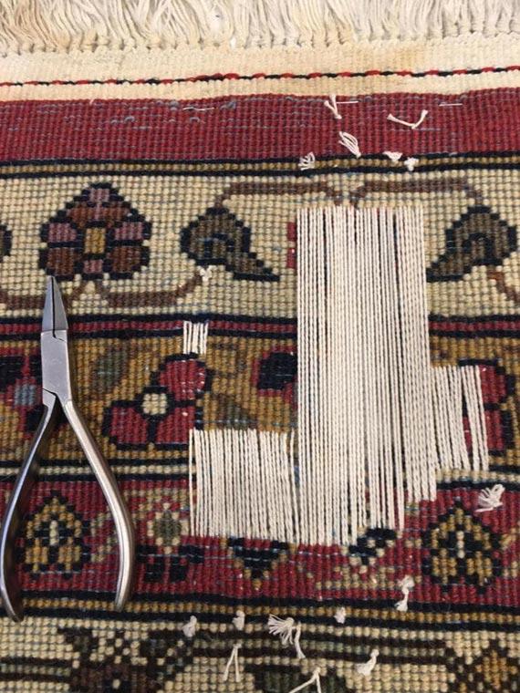 Réparation tapis troué, étape 2