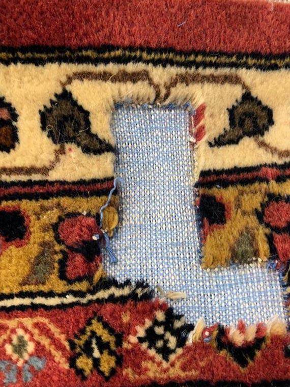 Réparation tapis troué, étape 4